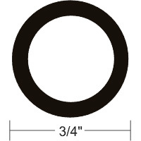 "Taco Rub Rail Flexible Insert 3/4"" Prepacked 50', Black"
