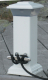 Solar Dock Light with Stainless Steel Mooring Cleat - Dock Edge