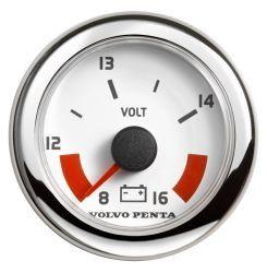 Voltmeter, 12v - White