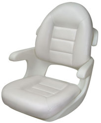 Elite High Back Boat Helm Seat, White - Tempress