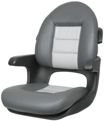 Elite High Back Boat Helm Seat, Charcoal-Gray - Tempress