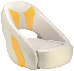 Avenir Sport Bucket Seat, Off-White & Yellow - Attwood