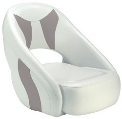 Avenir Sport Bucket Seat, Bright White & Gray - Attwood
