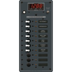 8402 DC Panel 10 Position with Multimeter - Blue Sea Systems