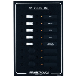 Paneltronics Standard Dc 8position Breaker Panel W/Led'S