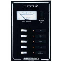 Paneltronics Standard Dc 5position Breaker Panel & Meter