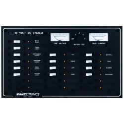 Paneltronics Standard Dc 20position Breaker Panel & Meter