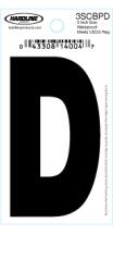 "3"" Glossy Dyer Style Boat Decal Letter D, Black, 10 - Hardline"