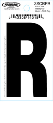 "3"" Glossy Dyer Style Boat Decal Letter R, Black, 10 - Hardline"