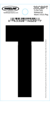 "3"" Glossy Dyer Style Boat Decal Letter T, Black, 10 - Hardline"