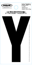 "3"" Glossy Dyer Style Boat Decal Letter Y, Black, 10 - Hardline"