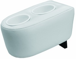 Pontoon Side-by-Side Double Drink Holder, White - Wise Boat Seats