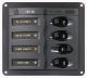 1X5A, 2X10A, 1X15A DC 4- Position Circuit Breaker Panel Marine - BEP Marine (Marinco)