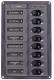 2X5A, 2X10A, 3X15A, 1X20A DC 8- Position Circuit Breaker Panel Marine - BEP Marine (Marinco)