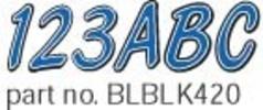Series 420 Boat Decal Letter/Number Set, Blue/Black - Hardline