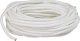 "Packaged Rope No Splice Finished Length Diamond Braid, 3/16""x50', White, Nylon - Seasense"