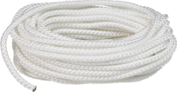 "Packaged Rope No Splice Finished Length Diamond Braid, 3/8""x50', White, Nylon - Seasense"