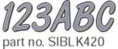 """Series 420 3"""" Boat Decal Letter & Number Set, Silver/Black - Hardline"""