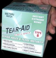Tear-Aid Boxed Repair Tape Roll, Type B, Vinyl Repair Only