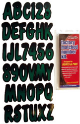 "Series 200 3"" Boat Decal Letter & Number Set, Forrest Green/Black - Hardline"