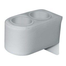 Pontoon Side-by-Side Double Drink Holder, Marble - Wise Boat Seats