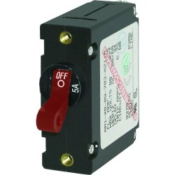 7201 AC/DC Single Pole Magnetic World Circuit Breaker, 5A - Blue Sea Systems