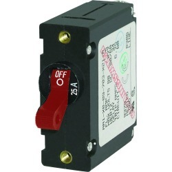 7217 AC/DC Single Pole Magnetic World Circuit Breaker, 25 Amp - Blue Sea Systems