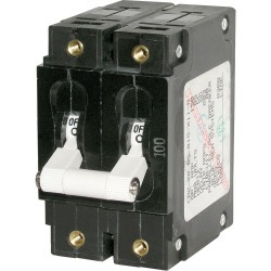 7258 C-Series Double Pole Circuit Breaker, 100A - Blue Sea Systems