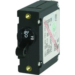 7347 AC/DC Single Pole Magnetic World Circuit Breaker, 8 Amp - Blue Sea Systems