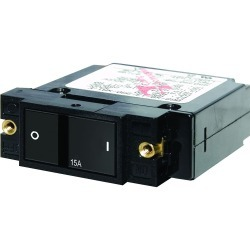 "7402 Single Pole Small Case 2"" Flat Rocker Circuit Breaker, 10 Amp - Blue Sea Systems"