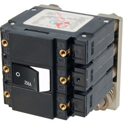 7477 C Series Flat Circuit Breaker, Single & Double Pole, 250 Amp - Blue Sea Systems
