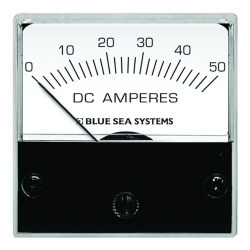 """8041 DC Analog Micro Ammeter, 2"""" Face, 0-50 Amperes DC - Blue Sea Systems"""