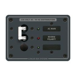 8129 AC Main + Branch A-Series Toggle Circuit Breaker Panel, 230V, Main + 1 Position - Blue Sea Systems