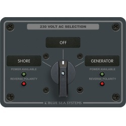 8359 AC Rotary Panel 230VAC 32A - Blue Sea Systems