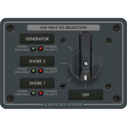 8361 AC Rotary Panel 240VAC 63A - Blue Sea Systems