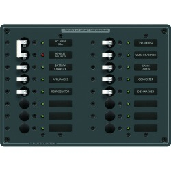 8464 Breaker Panel 120VAC 16 Position - Blue Sea Systems