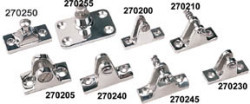 Stainless Steel Convertible Top Deck Hinge Removable Pin 90° SeaDog Line