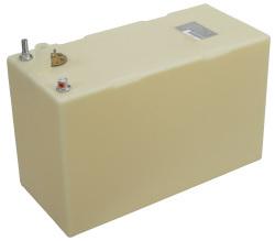 """20 Gallon Permanent Boat Fuel Tank, 26""""L X 11.75""""W X 16.25""""H - Moeller"""