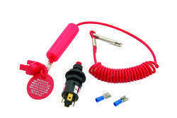 Mallory Switch, Ignition Safety (Coiled Lanyard) 9-15400