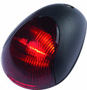 2-Mile Vertical Mount Sidelight, Red, Black Cover - Attwood
