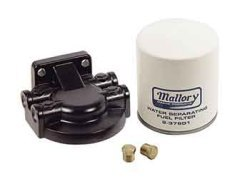Mallory Kit, Fuel Water Seperator Kit Alum w/ 3/8