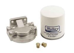 Mallory Kit, Fuel Water Seperator, S/S w/ 1/4