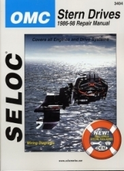 OMC Stern Drives 1986-1998 Repair Manual Powered by Ford or GM 4 Cylinder, V6, V8, Includes Carbureted & Fuel Injection - Seloc