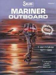 Mariner Outboard ONLY, 2-60HP 1977-1989 Repair Manual 1-2 Cylinder, 2 Stroke - Seloc