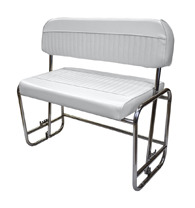 Offshore Swingback Cooler Seat (cooler not included), White - Wise Boat Seats