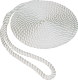 "3/8""x10' Pre-Spliced Twisted Nylon Dock Line, White, 10"" Eye Splice - Seasense"