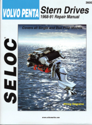 Volvo Penta Stern Drives 1968-1991 Repair Manual Powered by Ford, GM or Volvo 4 Cylinder, V6, V8 - Seloc