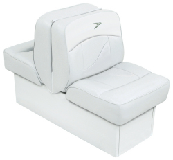 Back-to-Back Lounge Seat Contemporary Series - White - Wise Boat Seats