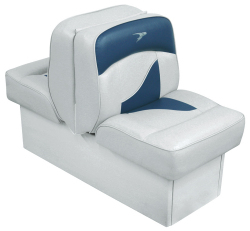 Back-to-Back Lounge Seat Contemporary Series - Gray-Dark Blue - Wise Boat Seats