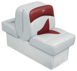 Back-to-Back Lounge Seat Contemporary Series - Gray-Red - Wise Boat Seats
